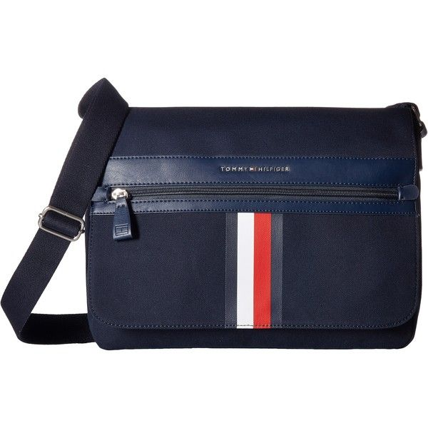 856bba22da Tommy Hilfiger Icon Messenger Canvas (Tommy Navy) Messenger Bags ($65) ❤  liked on Polyvore featuring men's fashion, men's bags, men's messenger bags,  navy, ...