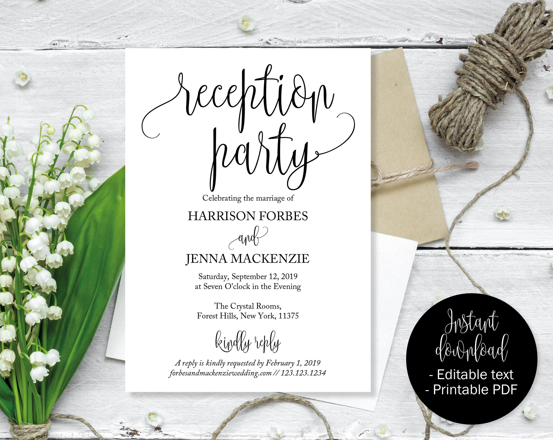 Wedding Invitation Template, Wedding Invitation Printable, Wedding ...