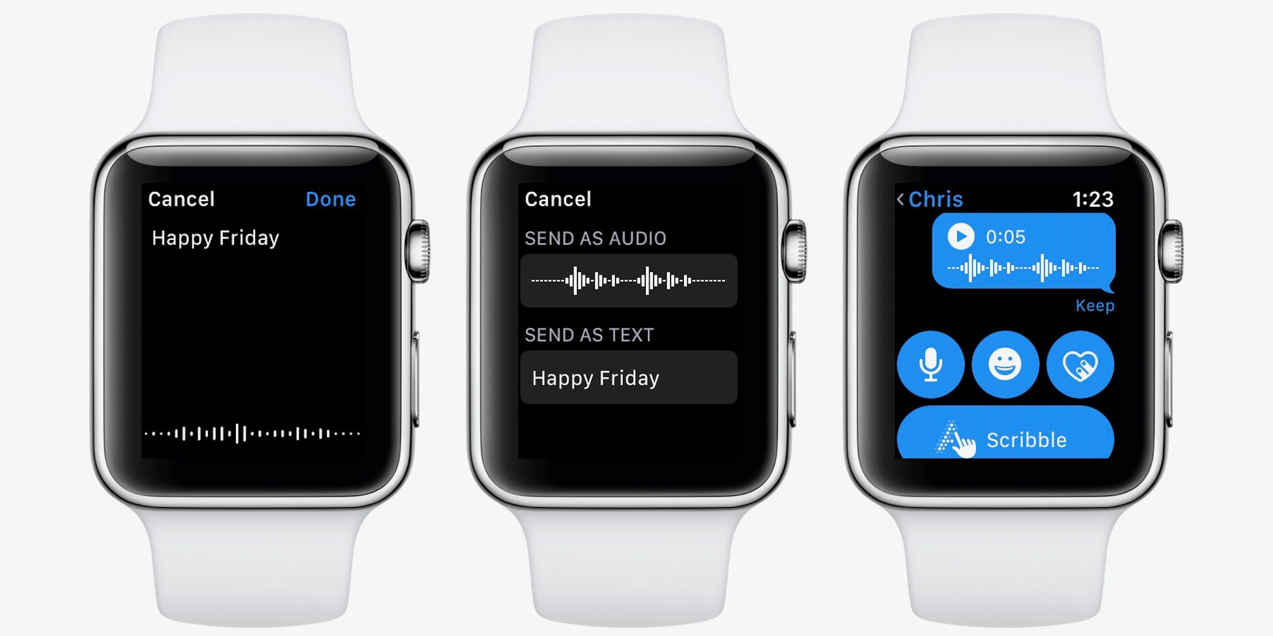 How to send voice messages from Apple Watch Apple watch