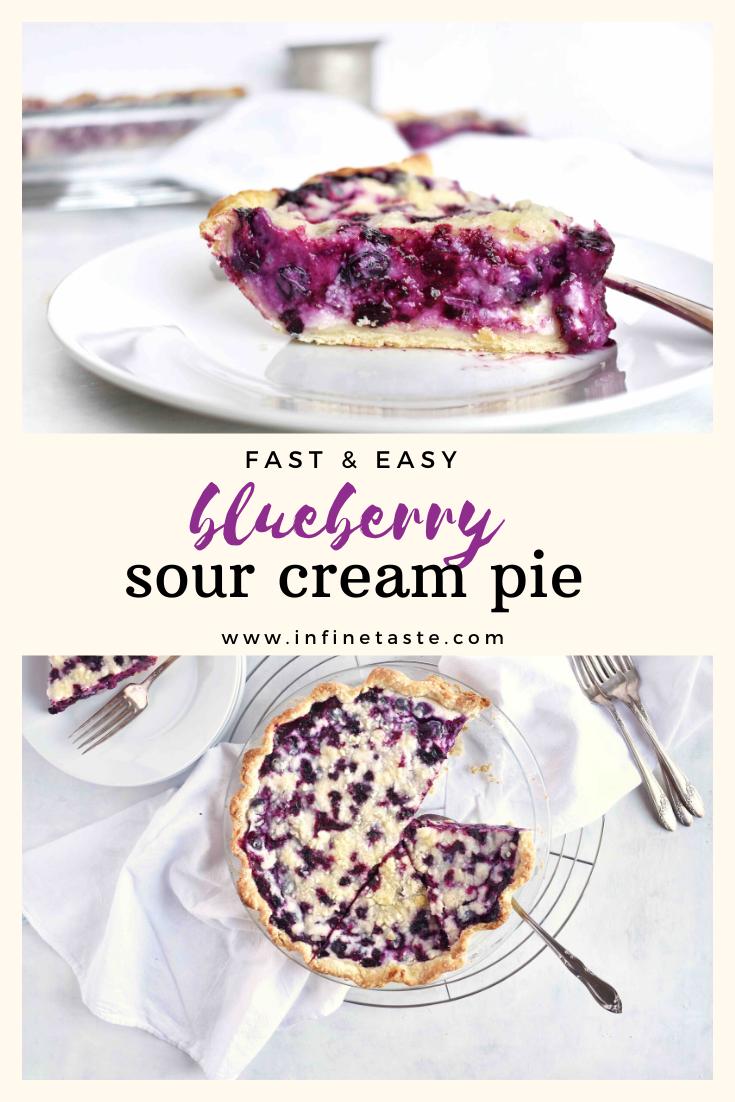 Blueberry Sour Cream Pie In Fine Taste Recipe In 2020 Sour Cream Recipes Blueberry Pie Recipes Cream Pie Recipes