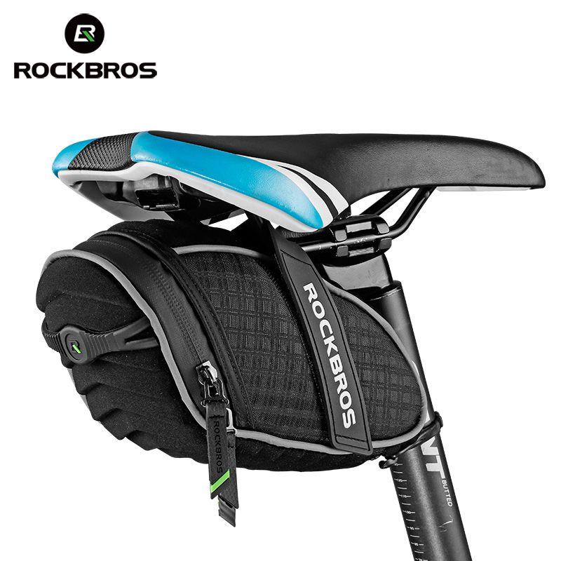 Rockbros Bicycle Bag 3d Shell Rainproof Saddle Bag Reflective Bike