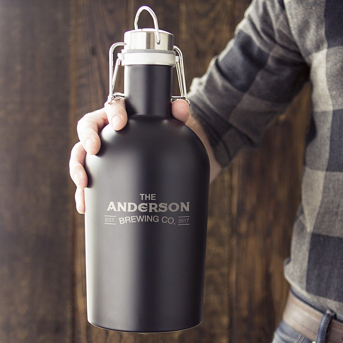 Personalized Black Half Gallon Stainless Steel Growler Groomsmen Growler Stainless Steel Growler Groomsmen
