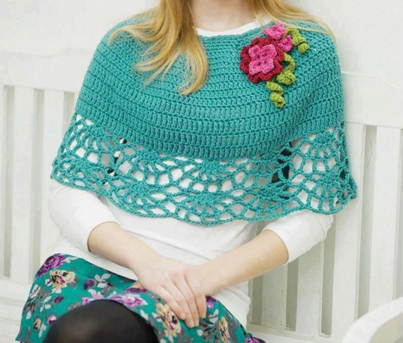 Capelet crochet   Crochet/shawls and wraps   Pinterest   Stricken ...