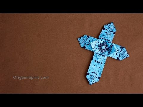How To Make An Origami Cross Version 1 Of 2 Origami Pinterest