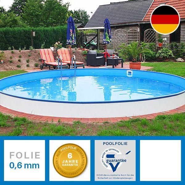 swimmingpool rundbecken mit hochwertiger feuerverzinkter stahlwand qualit t made in gemany auf. Black Bedroom Furniture Sets. Home Design Ideas