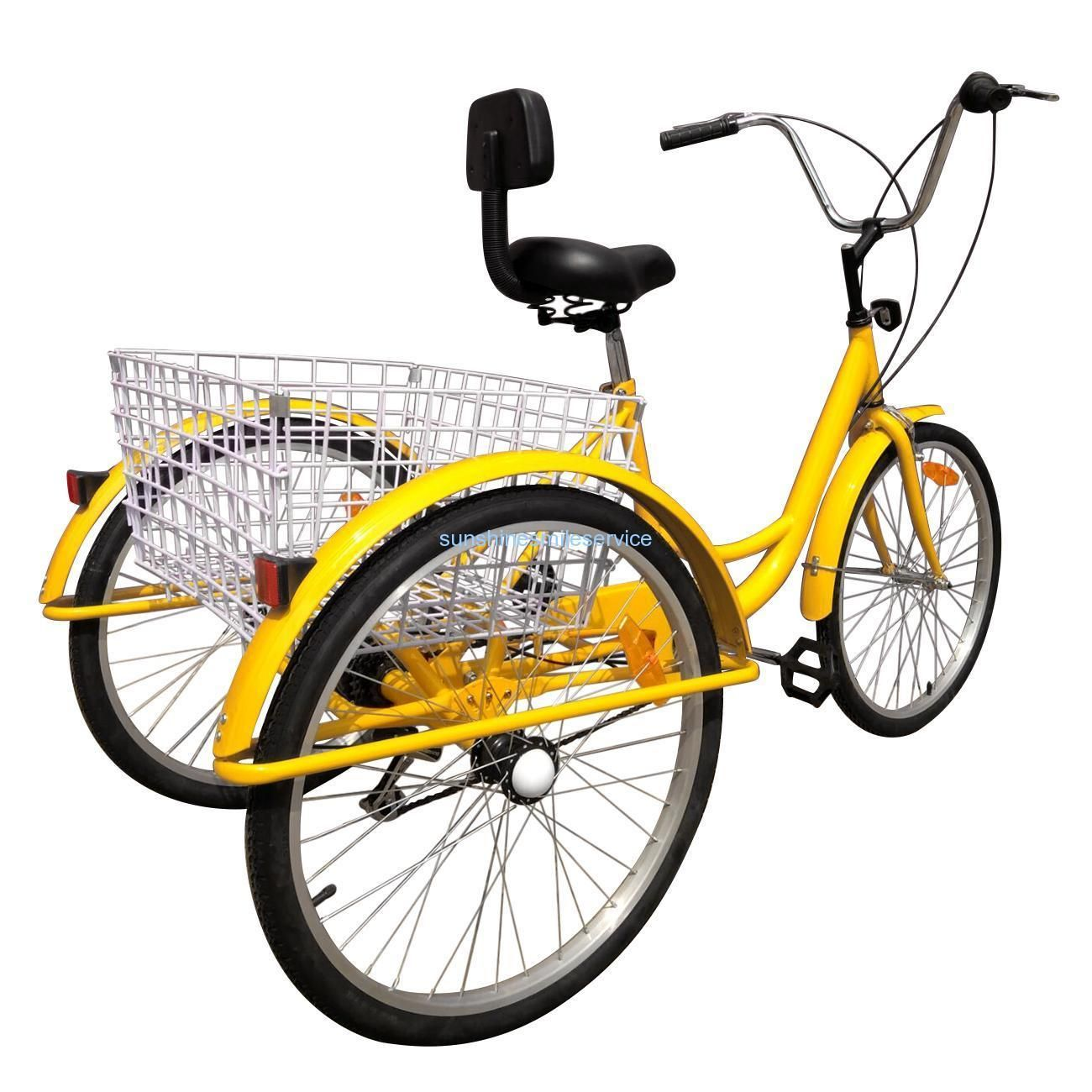 """Details about 7Speed 24"""" Adult 3Wheel Tricycle Trike"""
