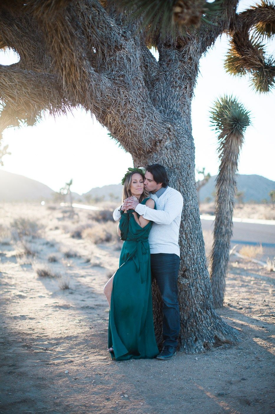 Man kissing woman, Joshua Tree Anniversary Session | Lindsey Parkin Photography