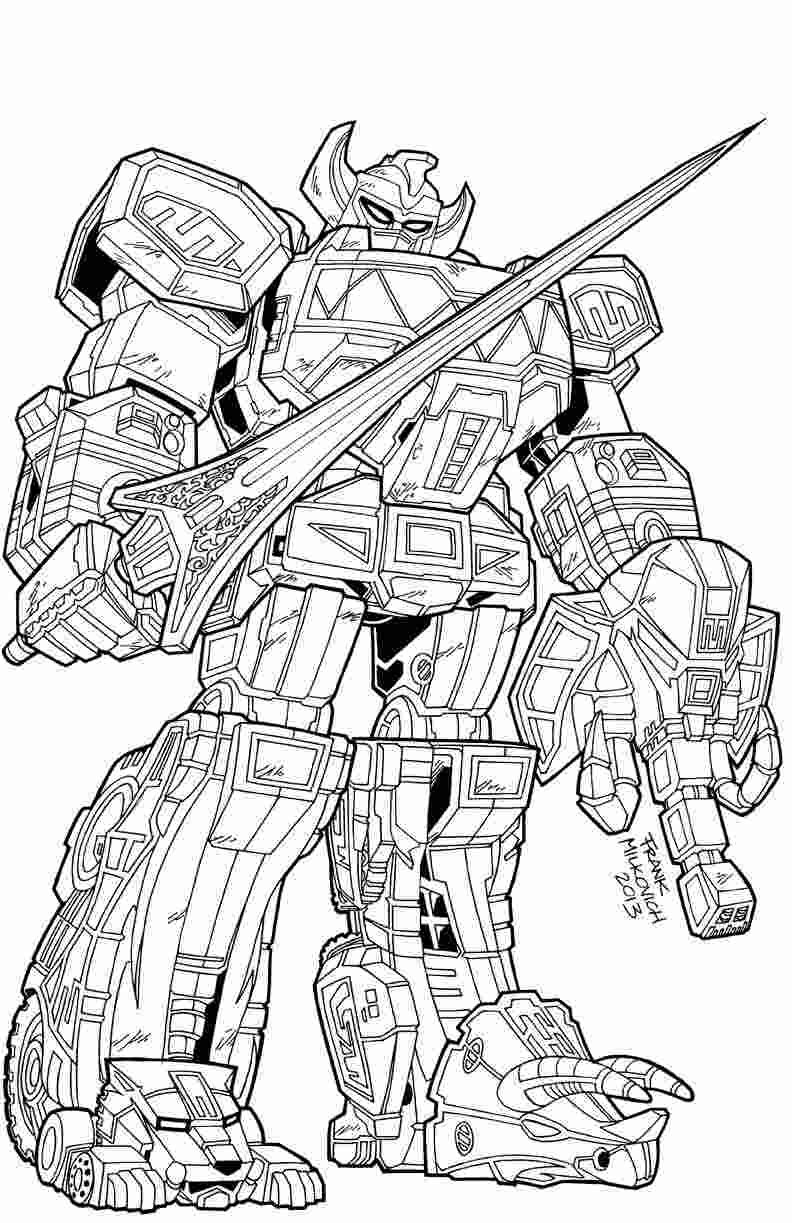 Power Rangers Megazord Coloring Pages Collection