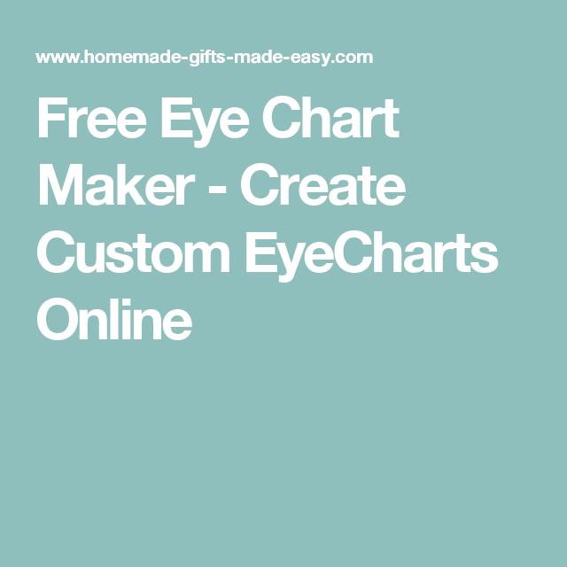 Free Eye Chart Maker Create Custom Eyecharts Online Diy Art