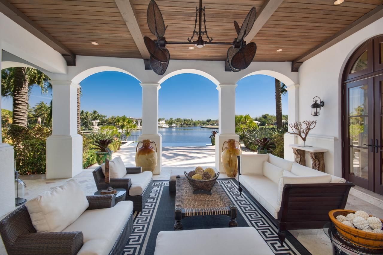 tour a mediterranean style waterfront home in coral gables fla
