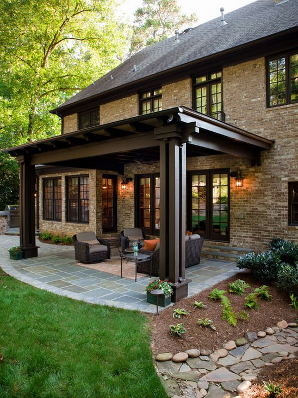 Solid Wooden Beam Patio Cover Structure