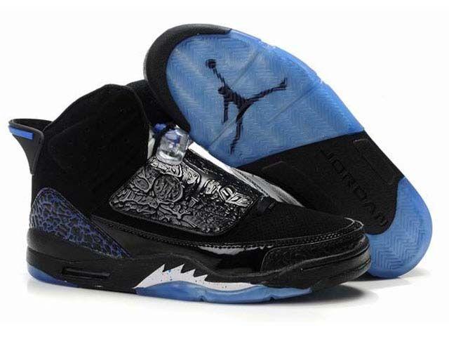 Black · Nike Air Jordans 21(XXI) Son Of Mars Shoes Black/Light Blue