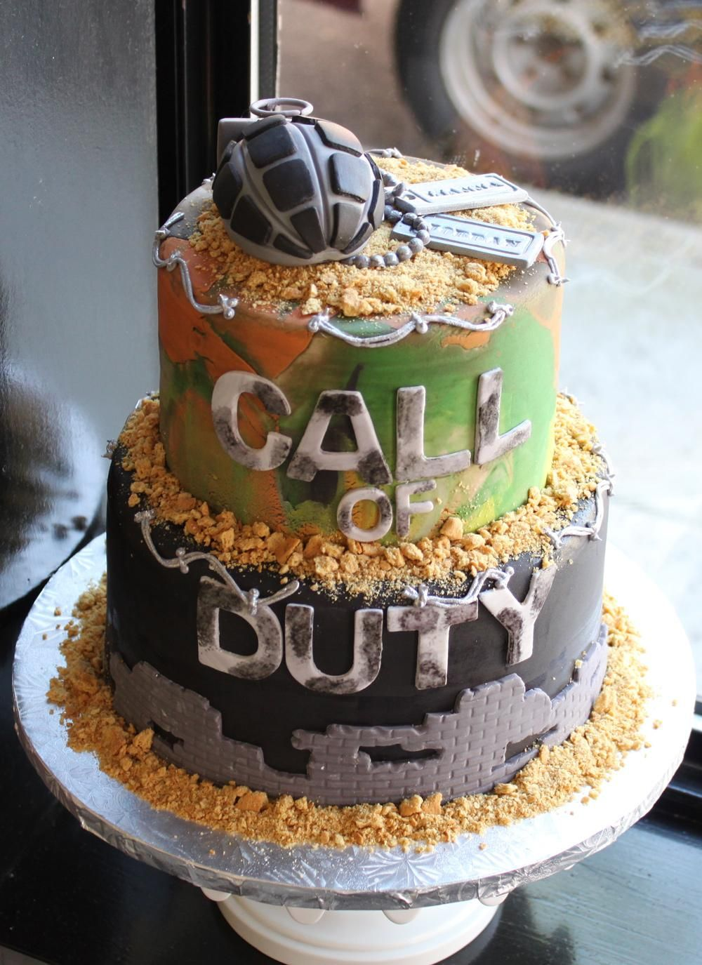 Call of duty grooms cake whipped grooms cake