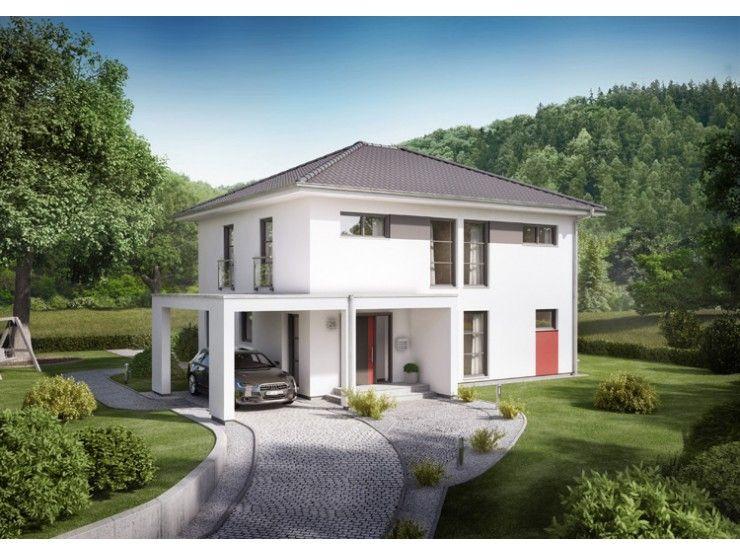 Trend pergola stadtvilla von rensch haus gmbh hausxxl for Einfamilienhaus modern walmdach
