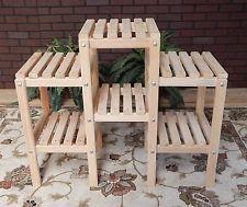 NEW 6 Shelf Cypress Wood Indoor Outdoor Plant Stand Patio Flowers Garden  Yard