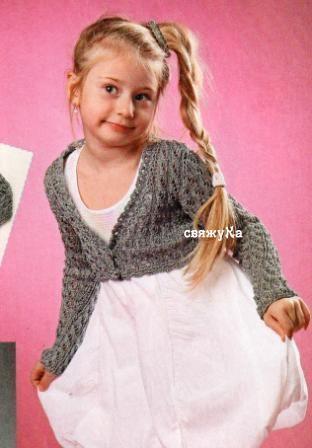 болеро для девочки вязаное спицами вязание болеро вязание и девочка