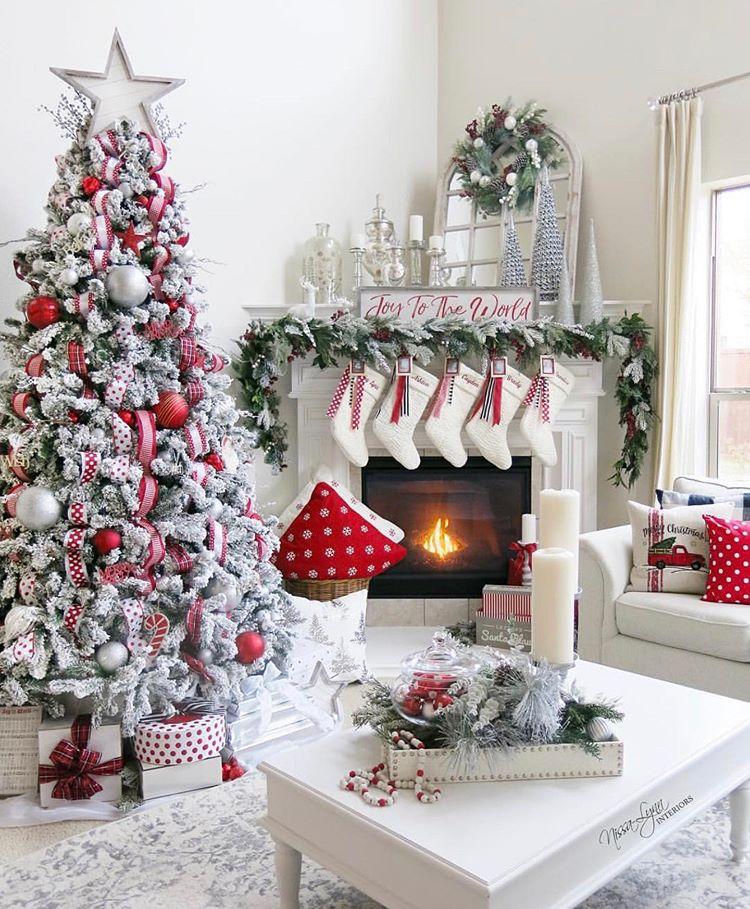 Instagram Christmas Living Rooms Christmas Room Beautiful