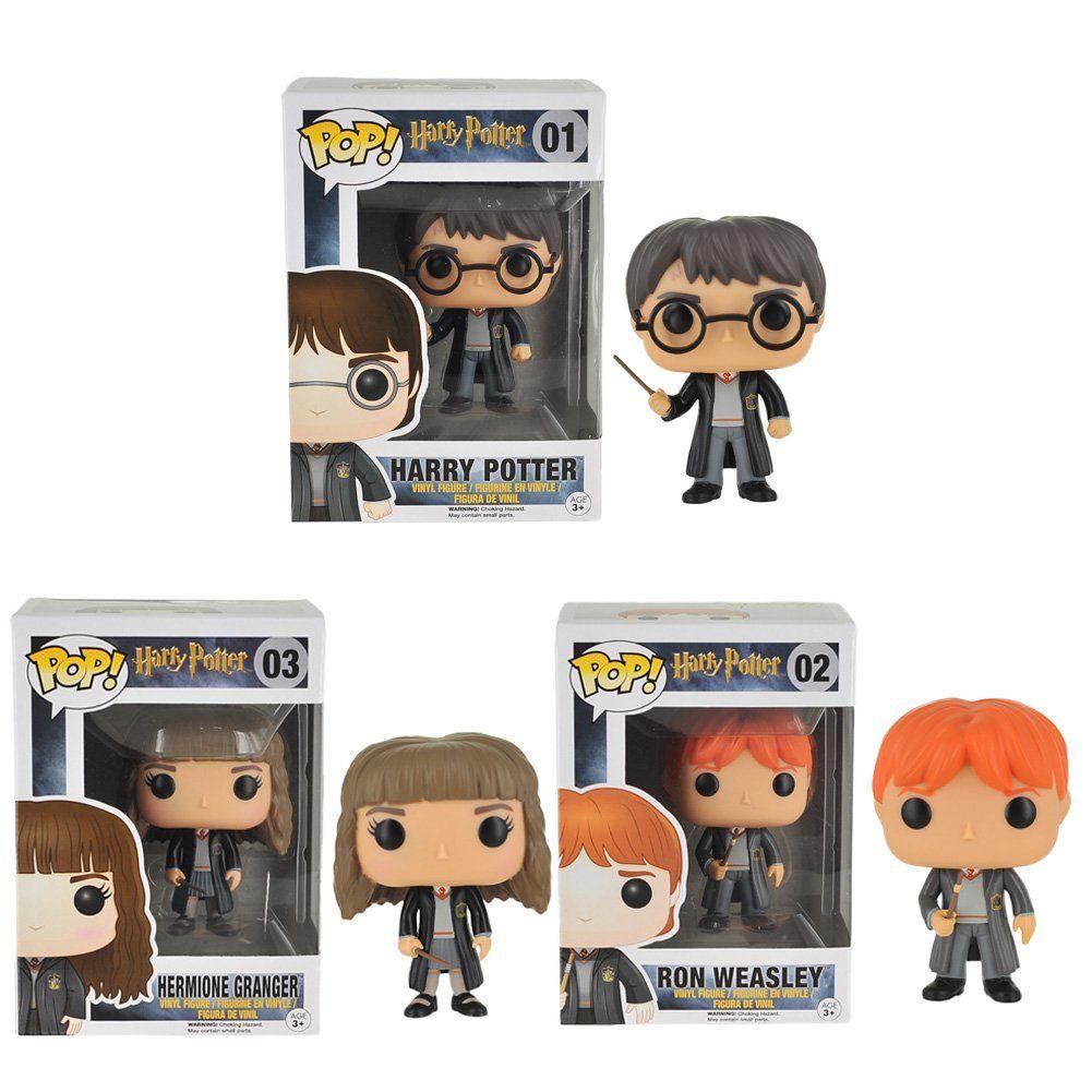 Funko POP Movies Harry Potter Ron Weasley Hermione