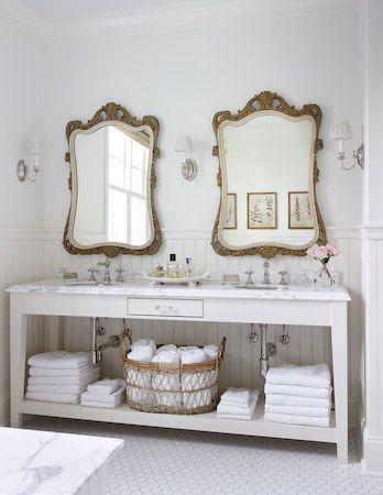 european style bathroom. home decor and interior decorating ideas. french flea market meets italian countryside