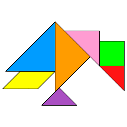 tangram crow tangram solution providing teachers and pupils with tangram puzzle activities