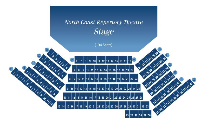 North Coast Repertory Theatre Seat Map North County San Diego North Coast Theatre Coast