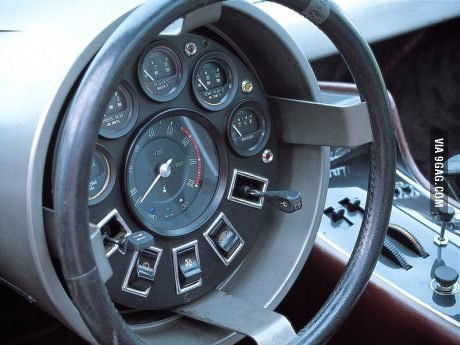So this is the steering wheel/dash for the 1972 Maserati Boomerang