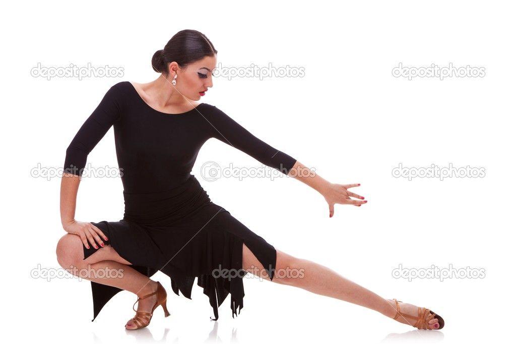 POSE - woman salsa dancer in a lunge pose u2014 Stock Photo #13515889 - ballet dancer resume