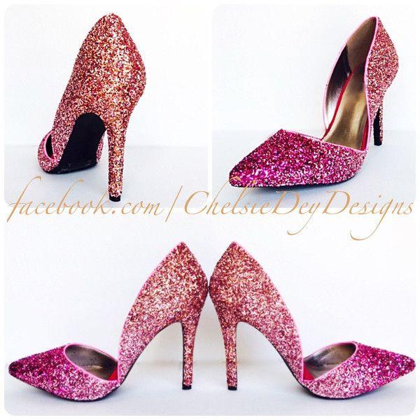 Glitter D orsay High Heels Hot Pink Pumps Light Pink Coral Orange ... d2764263a4