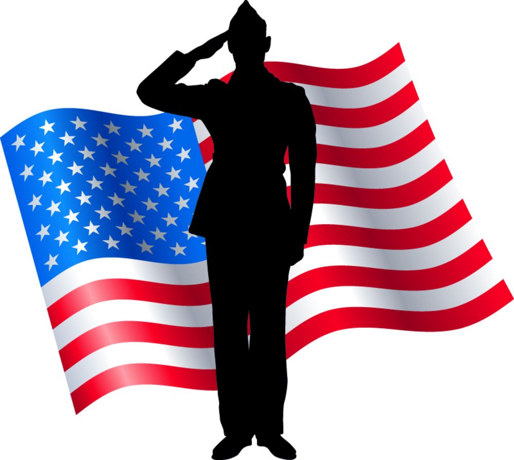 Finding A Job After Completing Military Service Can Be Challenging The Government And A Number Of Companies Are American Flag Clip Art Soldier Silhouette Flag