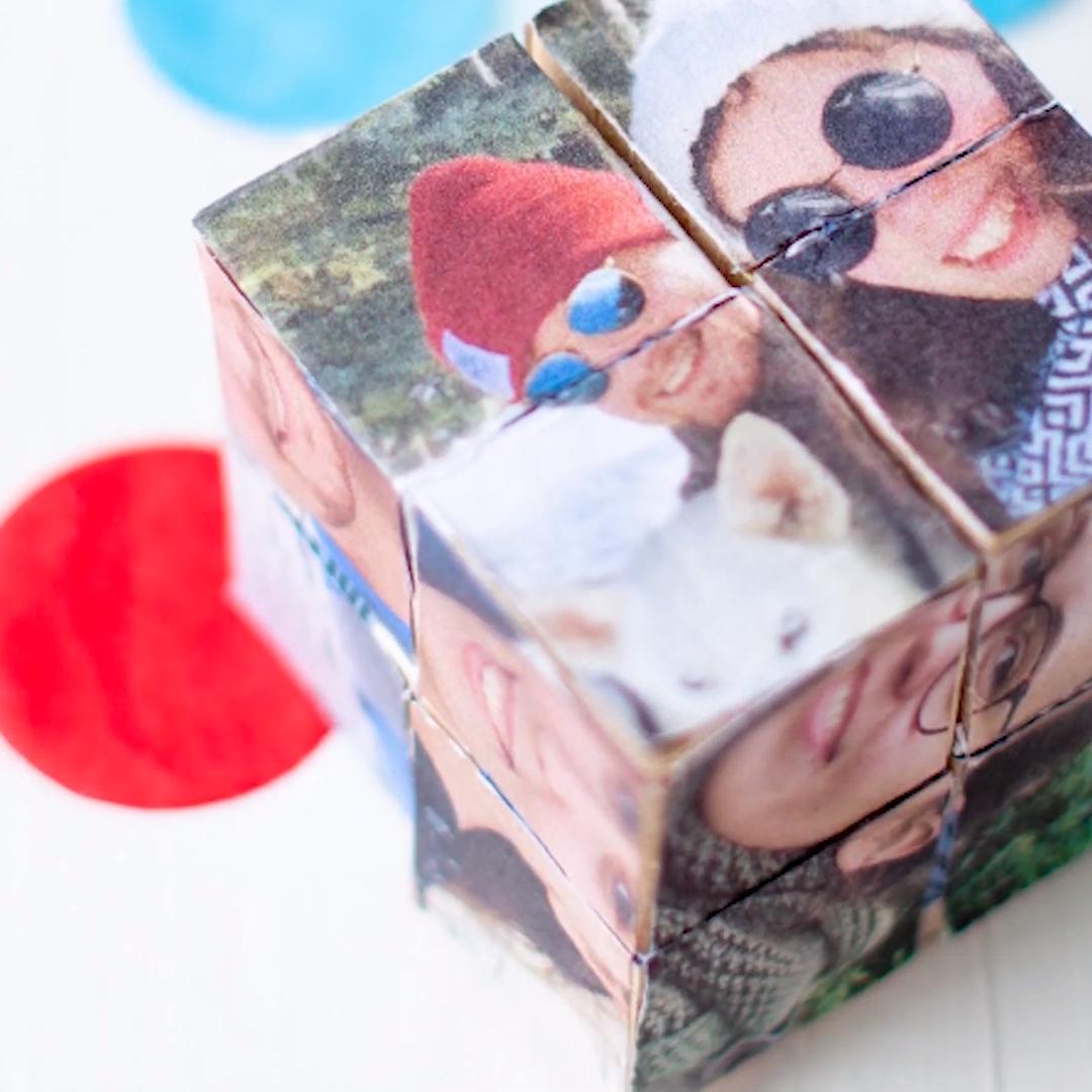 DIY Foto-Würfel - ein persönliches Geschenk für besondere Menschen #adventkalenderbasteln