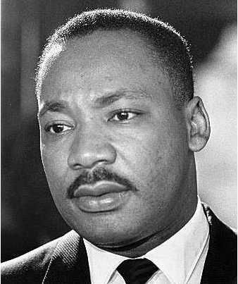 Martin Luther King, courageous leader, nonviolent activist, unparalleled orator, a man. Assassinated in Memphis, TN in 1968.