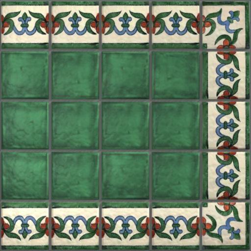 LeMog - 3dTextures - Carrelage Azuleros Motifs 4 - Tiles/504 veniseIvoire