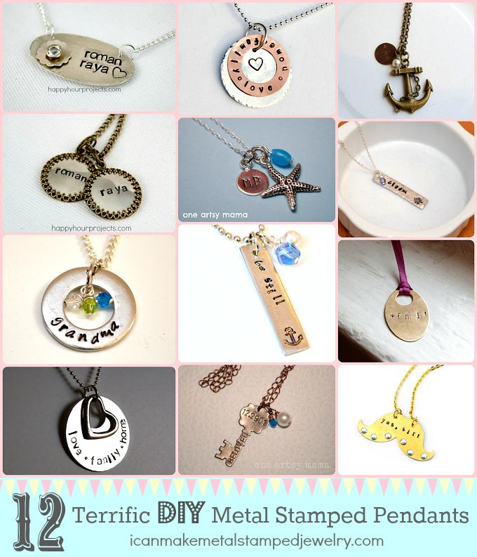 12 terrific diy metal stamped pendants metal work pinterest 12 terrific diy metal stamped pendants metal work pinterest jewerly metals and pendants mozeypictures Gallery