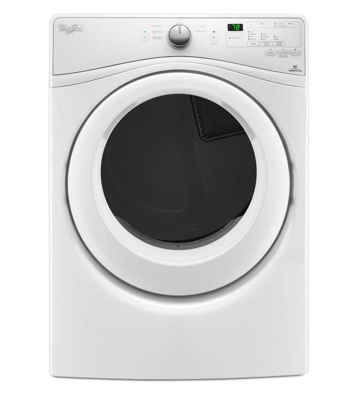 Whirlpool Wed75hef 27 Inch Wide 7 4 Cu Ft Energy Star Rated Electric Dryer Wit White Dryer Electric Dryers Front Loading Washing Machine Laundry Room Storage