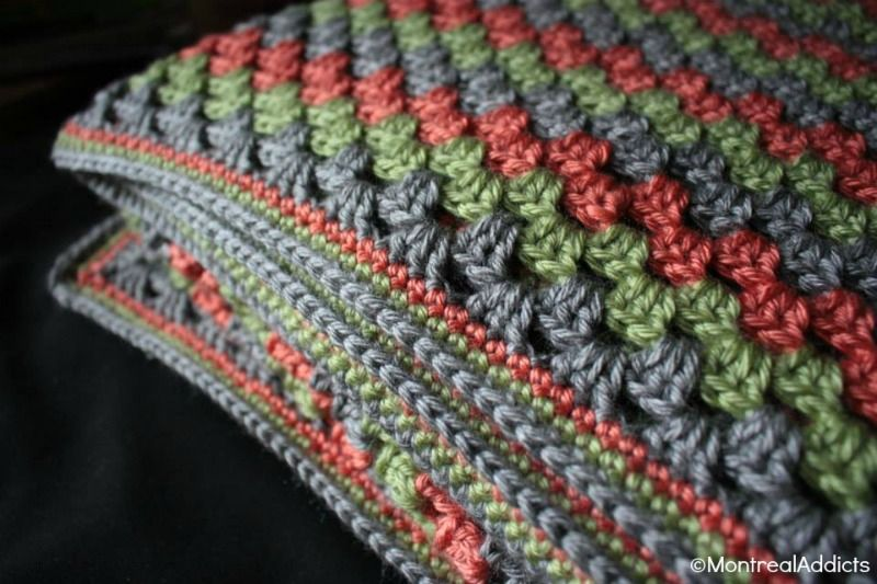 Couverture crochet granny square geant Blog Montreal Addicts