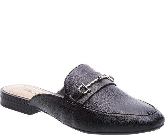 c418cef11 Mule Mocassim com Fivela Preto | WISH LIST | Shoes, Loafers e Slippers