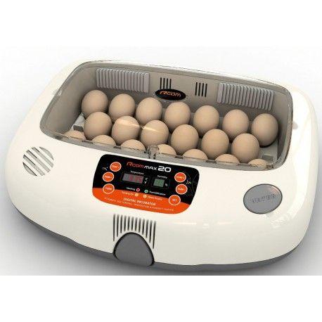 Incubadora rcom 20. Digital, control de la humedad automático. Volteo automático,