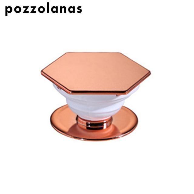 Pozzolanas Fashion Hexagon Phone Holder Verlängerungsständer und Griffhalterung für Iphone Für Samsung und Tablets