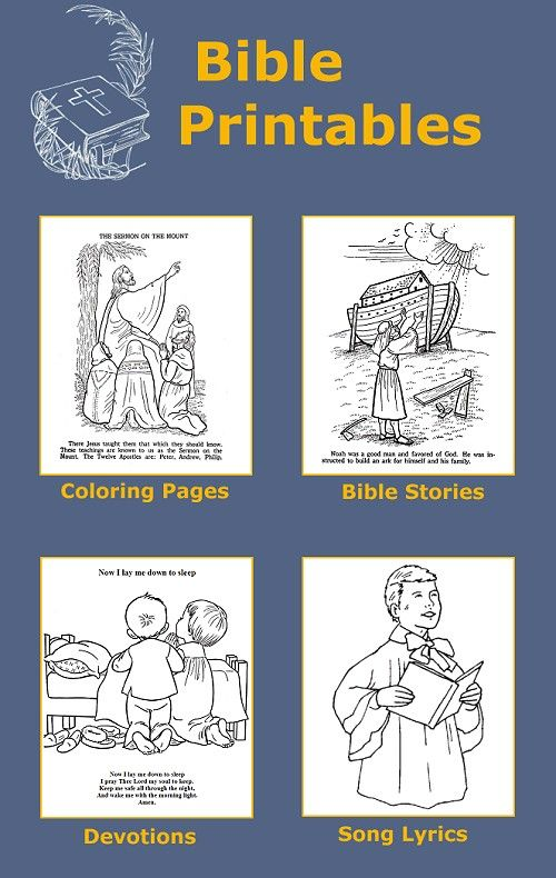 Bible coloring pages, printable Bible stories, prayers and devotions ...