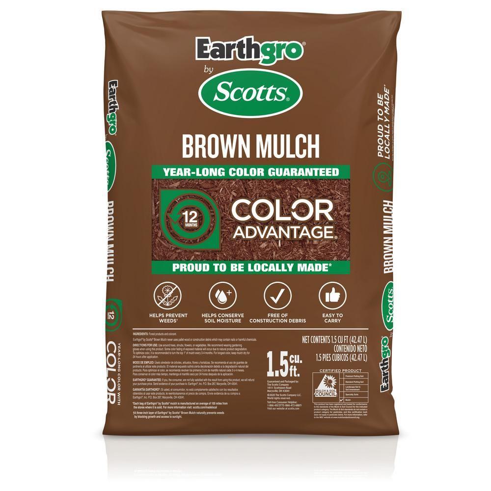 Earthgro 1 5 Cu Ft Brown Mulch 88659180 The Home Depot In 2020 Brown Mulch Wood Mulch Mulch