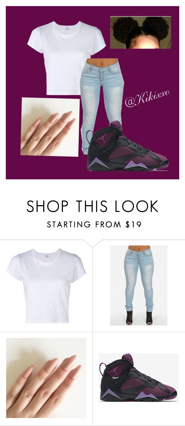 """Untitled #87"" by kikixxo ❤ liked on Polyvore featuring RE/DONE and NIKE"