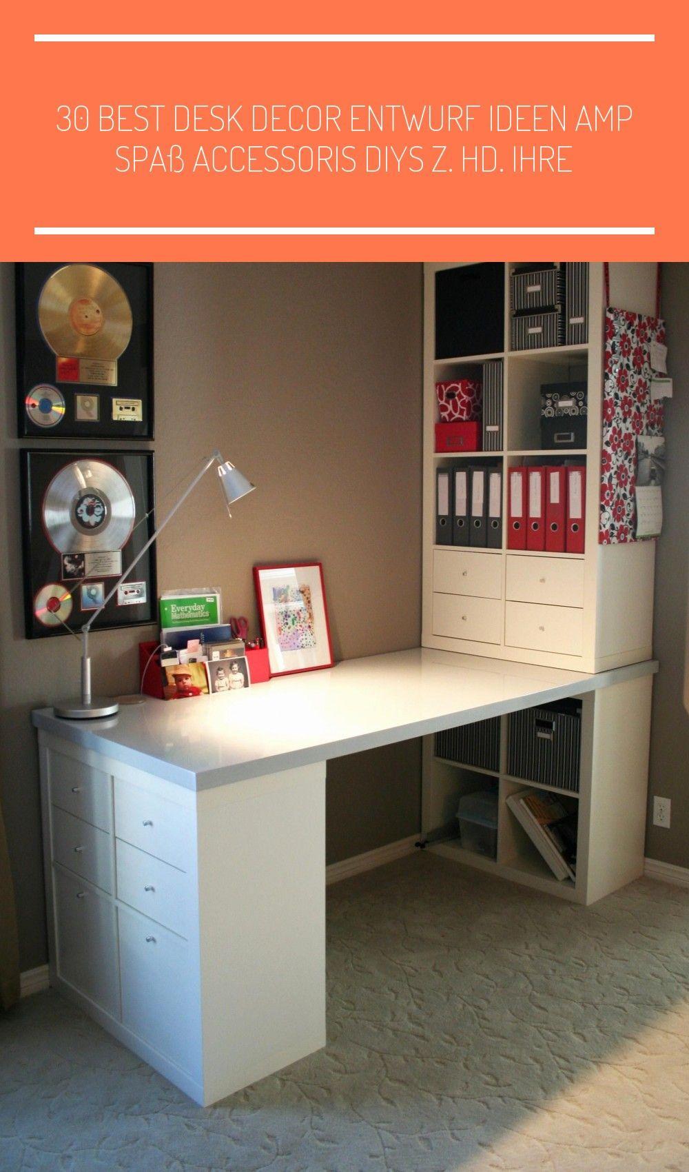30 Best Desk Decor Entwurf Ide In 2021 Home Office Design Craft Room Office Ikea Diy
