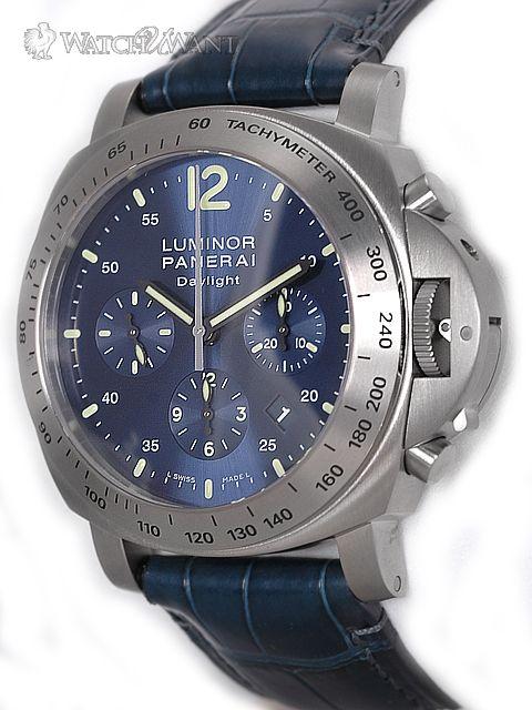 74b0edeb3dd Titanium Panerai Daylight Chronograph with Special Blue Dial  panerai   watches