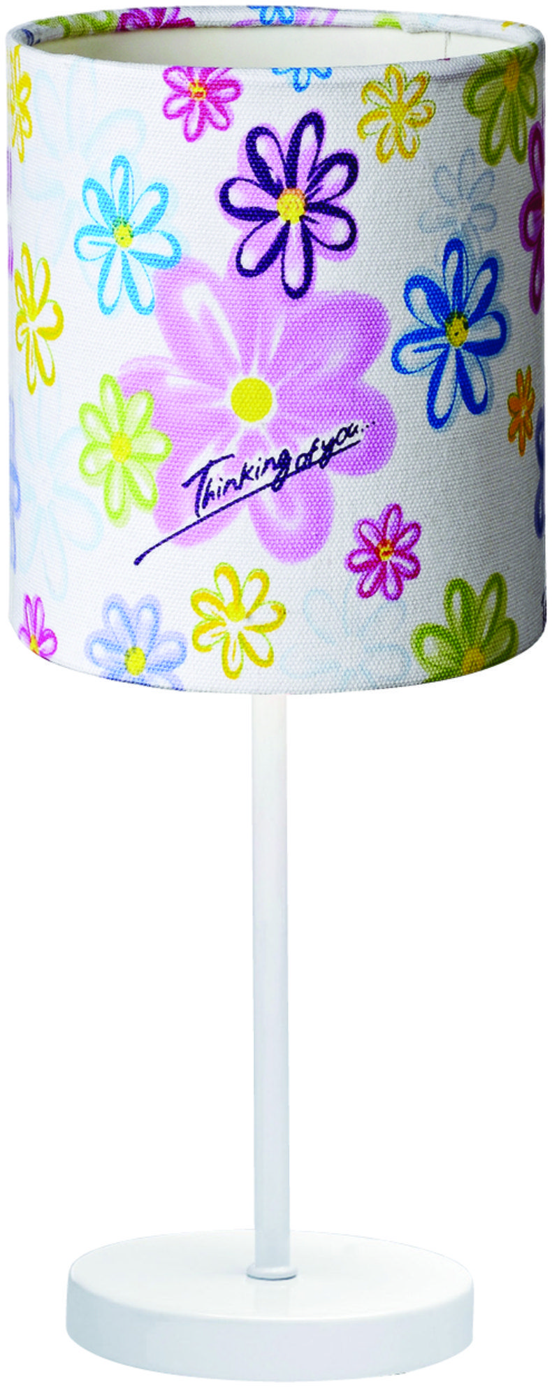 Pöytävalaisin pienelle koululaiselle. - Table lamp for little schoolchild.
