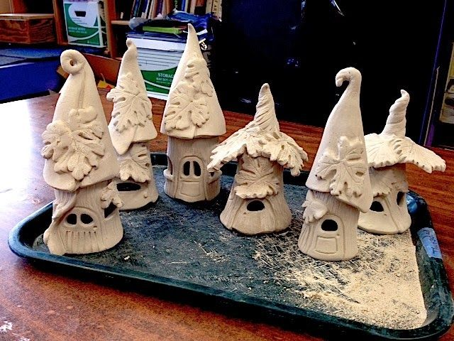 Cindi Hardwicke: Fairy House Night Lights & Faerie Garden #potteryideas