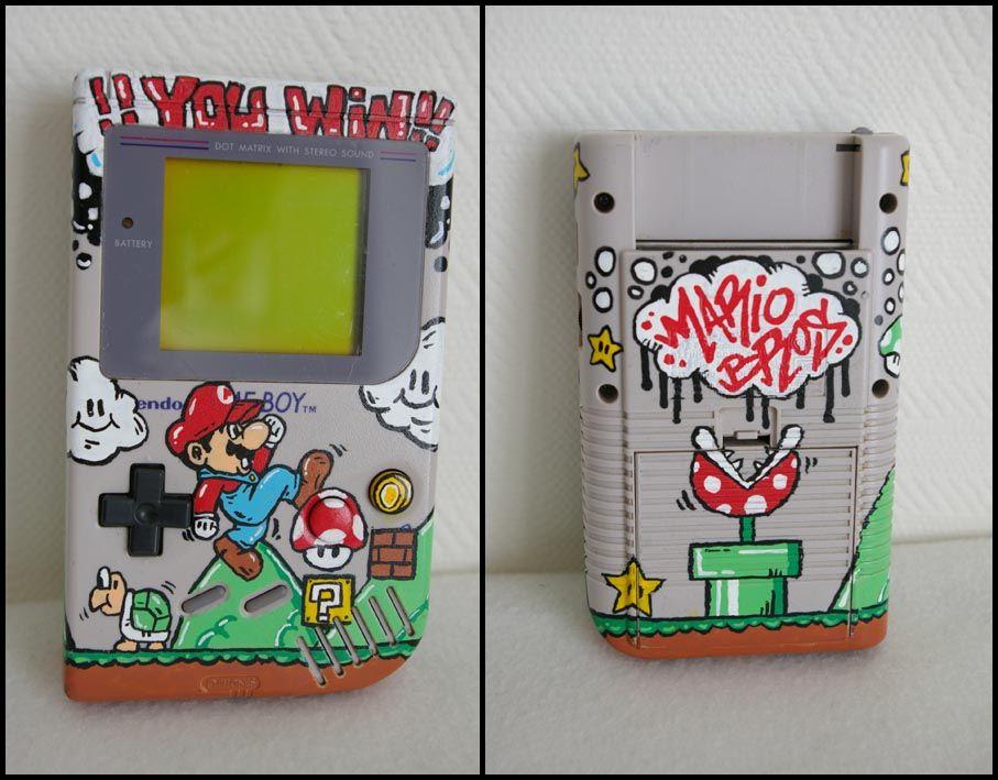 game boy art | Custom GAMEBOY Mario Bros | Video Games