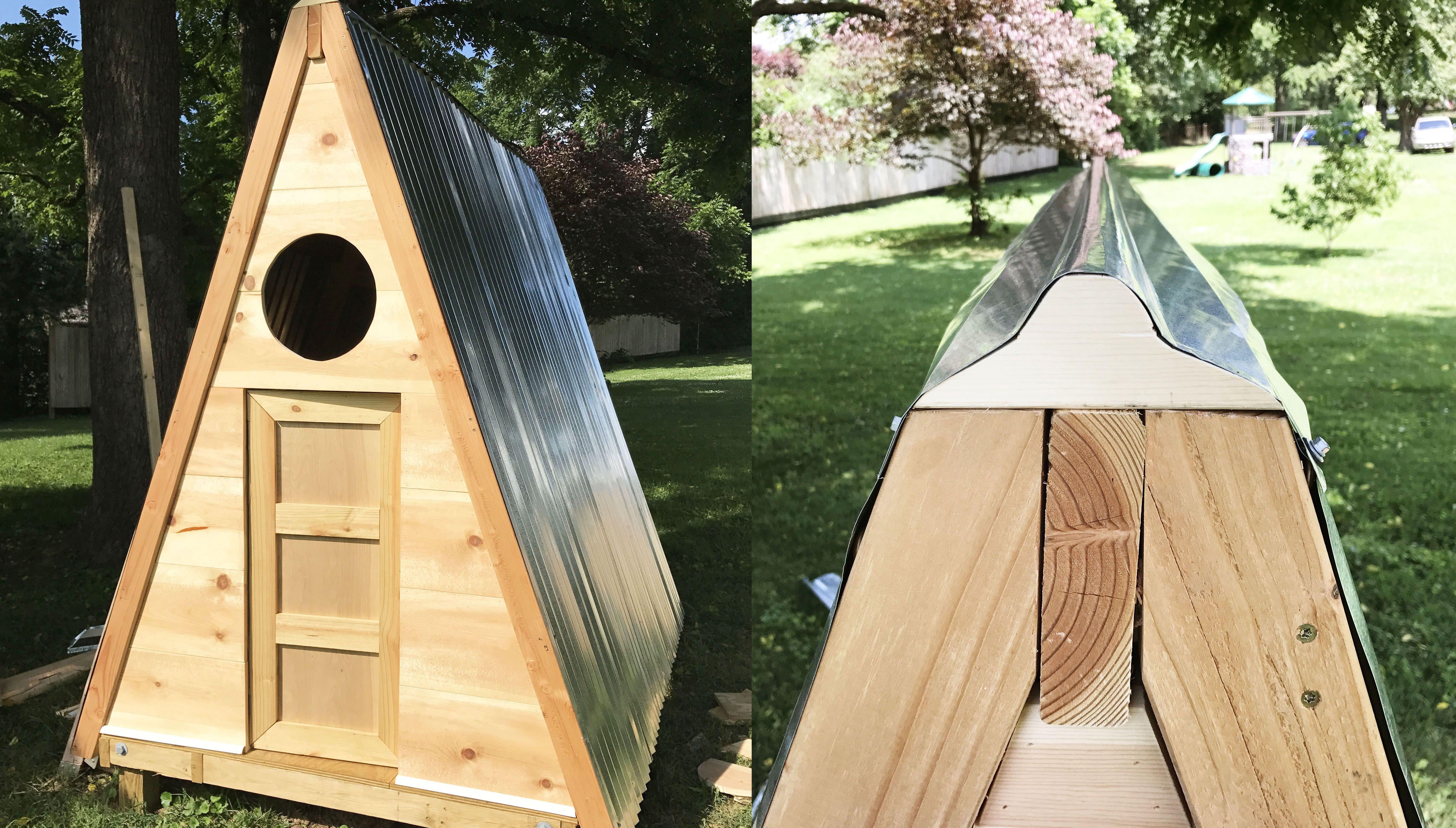 Aframe playhouse diy build a playhouse diy playhouse