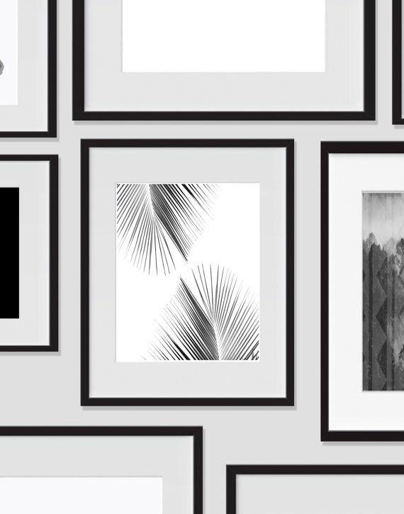 Palm Tree Wall Art 2 Tropical Monochromatic Art Minimalist Prints For The Home Palm Tree Wall Art Tree Wall Art Dorm Room Art