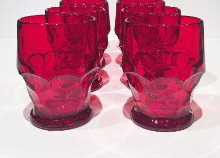 Viking Georgian Red Tumblers Set of 4 Red by MotownLostandFound