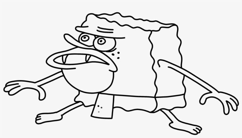 Spongebob Meme Outline Black And White Spongebob Tattoo Spongebob Drawings Black And White Stickers